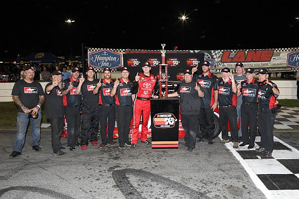 Todd Gilliland takes K&N East opener in wild duel with Harrison Burton