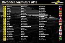 Jadwal resmi kalender Formula 1 2018