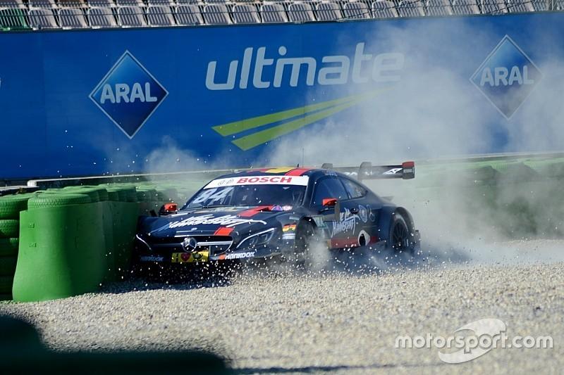 Maximilian Götz mit erstem kleinen Crash der DTM-Saison 2016