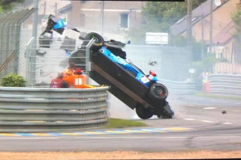 Le Mans: il crash di Sernagiotto causato dal cedimento della sospensione posteriore
