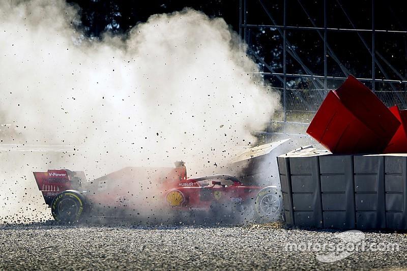Ferrari: il crash di Vettel per un problema di costruzione della sospensione anteriore