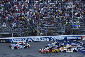 NASCAR Cup Interview Larson redeems missed opportunity at Dover with winning Michigan pass
