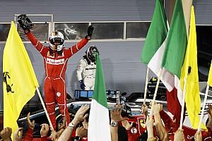 F1 Reporte de la carrera Vettel y Ferrari vencen a Hamilton y a Mercedes en Bahrein