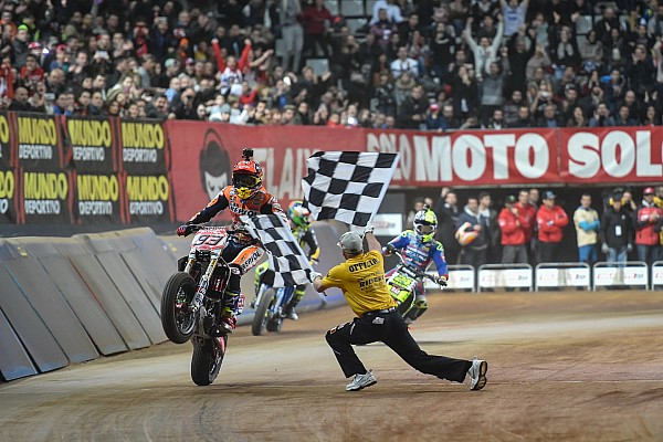 Other bike Marquez wins second Superprestigio Dirt Track title