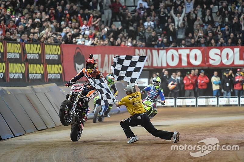 Marquez wins second Superprestigio Dirt Track title