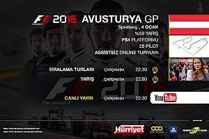 FORMULA 1 LİGİ Son dakika F1 2016 online turnuva: Avusturya GP - Canlı Yayın