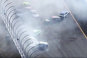 NASCAR Cup Race report Kyle Busch wins Stage 2 at NHMS after bizarre last-lap pileup