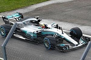 Fotogallery: le prime foto della Mercedes W08 Hybrid