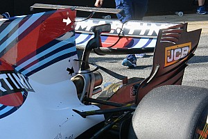 Williams trials own double T-wing solution