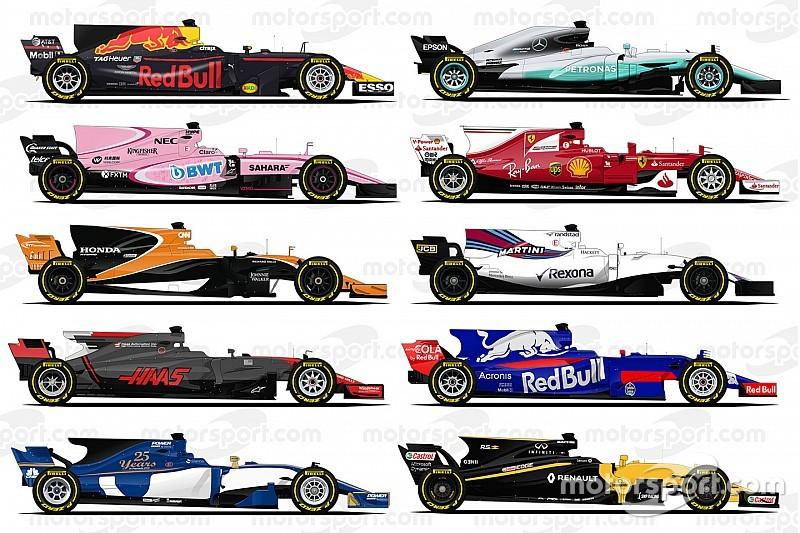 Акулы в профиль. Все машины Формулы 1 сезона-2017