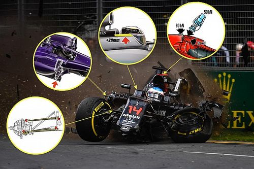 Tech analysis: The key safety advances that saved Alonso's life