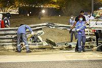 Des pneus vont être placés devant le rail du crash de Grosjean