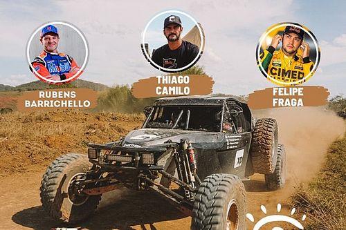 Barrichello, Camilo e Fraga estreiam no Sertões com a RMattheis