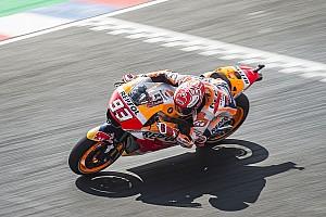 MotoGP Practice report Argentina MotoGP: Marquez first, Dovizioso last in damp FP2