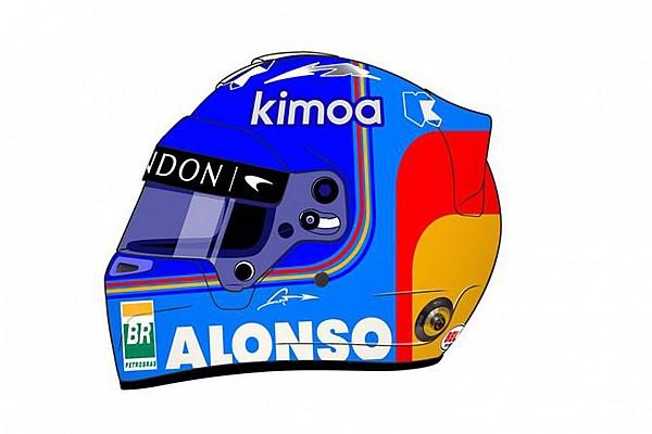 F1 Noticias de última hora Así es el nuevo casco de Fernando Alonso