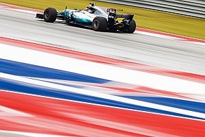 F1アメリカ:ハミルトン首位。フェルスタッペンが0.3秒差で2番手
