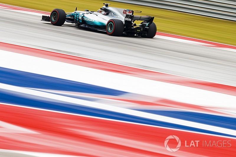 F1アメリカ:FP2はハミルトン首位。フェルスタッペンが0.3秒差で2番手