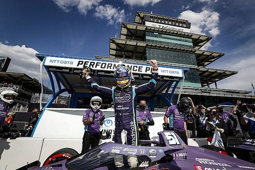 Primera pole position de Grosjean en IndyCar