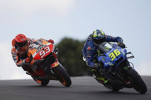 Mir forced into hard overtake on Marquez in Portugal MotoGP