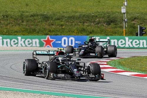 Mercedes admits W11 design is triggering gearbox issue
