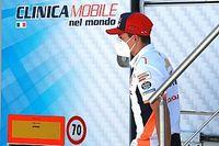Marquez ya prueba su brazo en el gimnasio para llegar a Brno