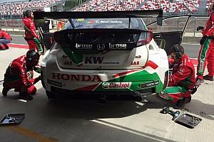 WTCC Test Mosca, Test: Monteiro guida la tripletta Honda
