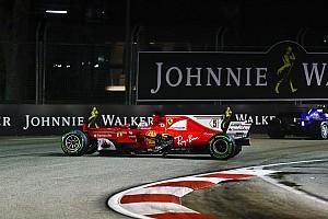 Формула 1 Новость Мотор Феттеля избежал повреждений в Сингапуре