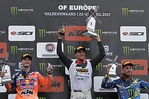 Mondiale Cross MxGP Gara Paulin ritrova la vittoria dopo due anni e sul podio c'è Herlings