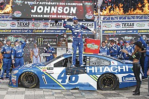 NASCAR Cup Race report Jimmie Johnson takes Texas win over Larson and Logano