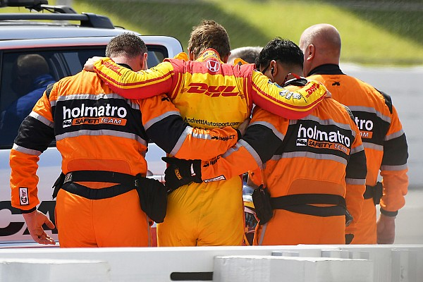 IndyCar Breaking news Hunter-Reay transferred to hospital after 200mph shunt