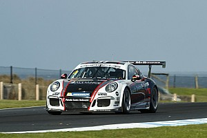 Porsche Race report Holdsworth/Grant win frantic Carrera Cup Pro-Am race