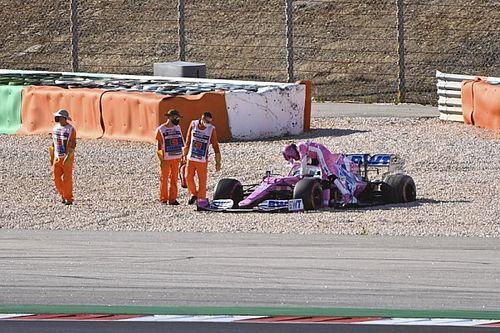 VIDEO: el accidente de Verstappen y Stroll el viernes en Portugal