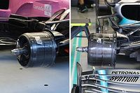 Racing Point: brake duct indentiche a quelle Mercedes