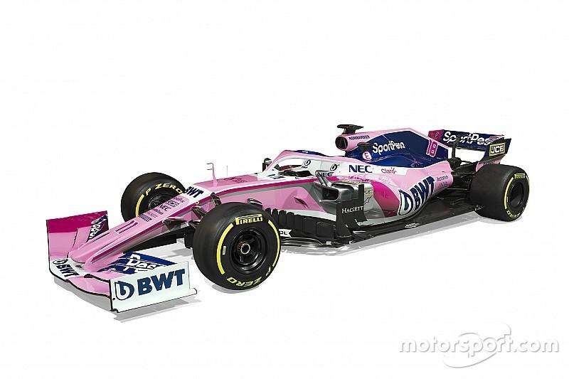 Todas las fotos de los nuevos colores de Racing Point en la F1 2019
