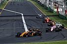 Formula 1 Avustralya GP boyunca geçiş yapmak nerdeyse imkansızdı