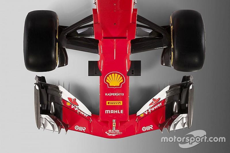 Ferrari SF70H vs SF16-H: confrontate la vista frontale e dall'alto