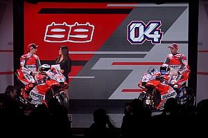 MotoGP 速報ニュース ドゥカティ、2018年用新型マシンのカラーリングを公開