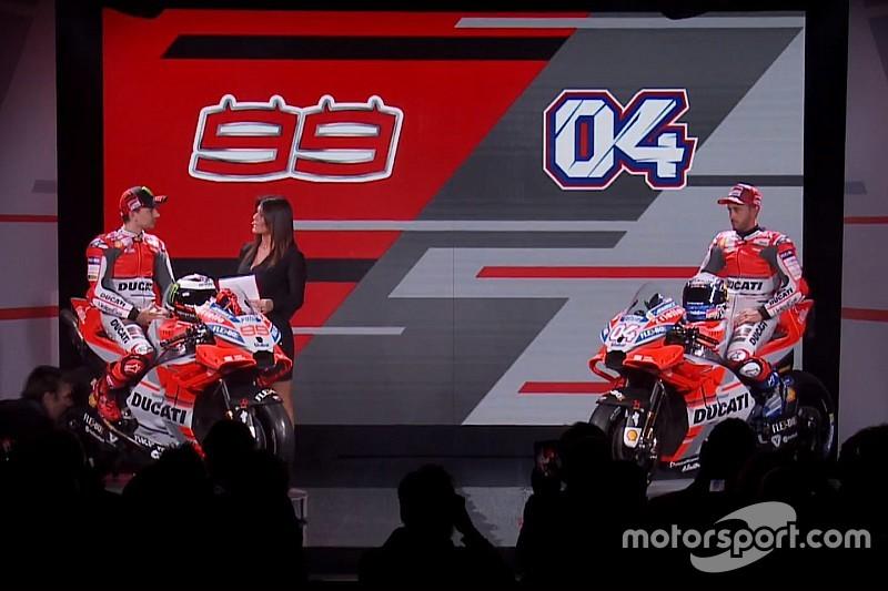 Довіціозо та Лоренсо презентували Ducati Desmosedici 2018 року