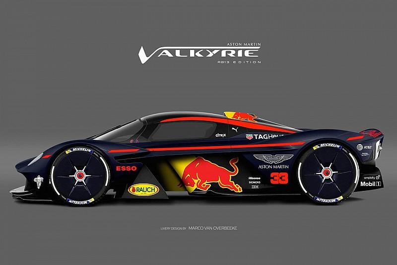 Гіперкар Aston Martin Valkyrie у лівреї боліда Формули 1