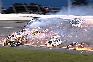 NASCAR Cup Breaking news Over half the field taken out in consecutive wrecks at Daytona