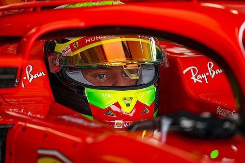 Schumacher, Ilott y Shwartzman disfrutaron su test con Ferrari