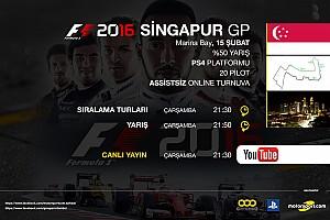 FORMULA 1 LİGİ Son dakika F1 2016 online turnuva: Singapur GP - Canlı Yayın
