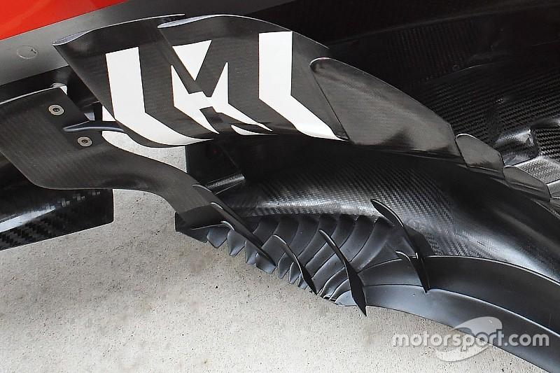 Ferrari: nuovi bargeboard con più coltelli sul pavimento