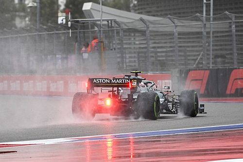 Fotogallery F1: le Qualifiche del GP di Russia sull'umido