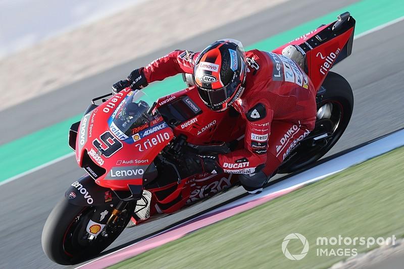Petrucci topt warm-up in Qatar, Rossi elfde