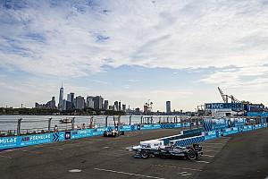 Formula E Practice report New York ePrix: Evans leads FP2 for Jaguar