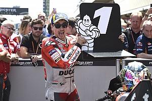 MotoGP Réactions Lorenzo, en pole, se sent