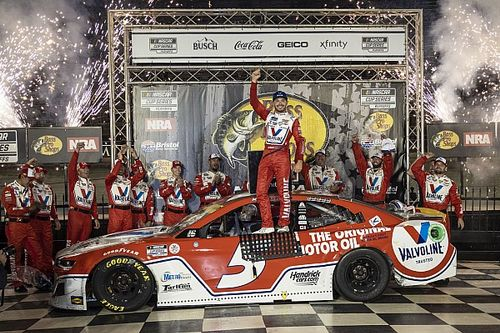 Larson grabs Bristol NASCAR win after Elliott and Harvick tangle