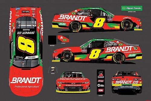 Carro que marca volta de Miguel Paludo à NASCAR tem layout apresentado