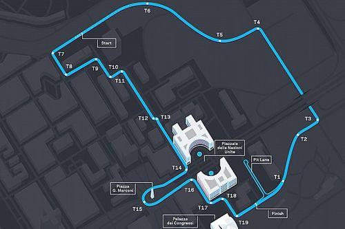 Le circuit de l'E-Prix de Rome a un nouveau tracé
